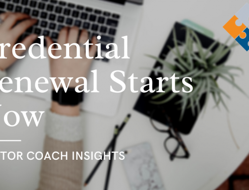 Preparing for Credential Renewal Starts Now